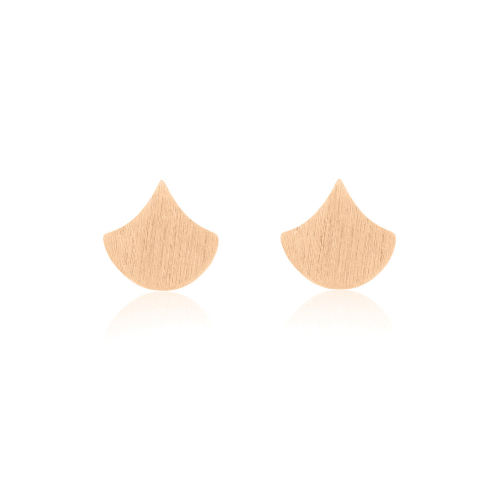 Droplet Stud Earrings - Rose Gold Plated Sterling Silver