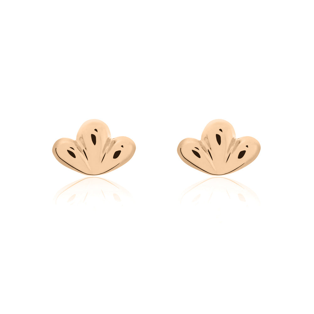 Bloom Stud Earrings - Rose Gold Plated Sterling Silver
