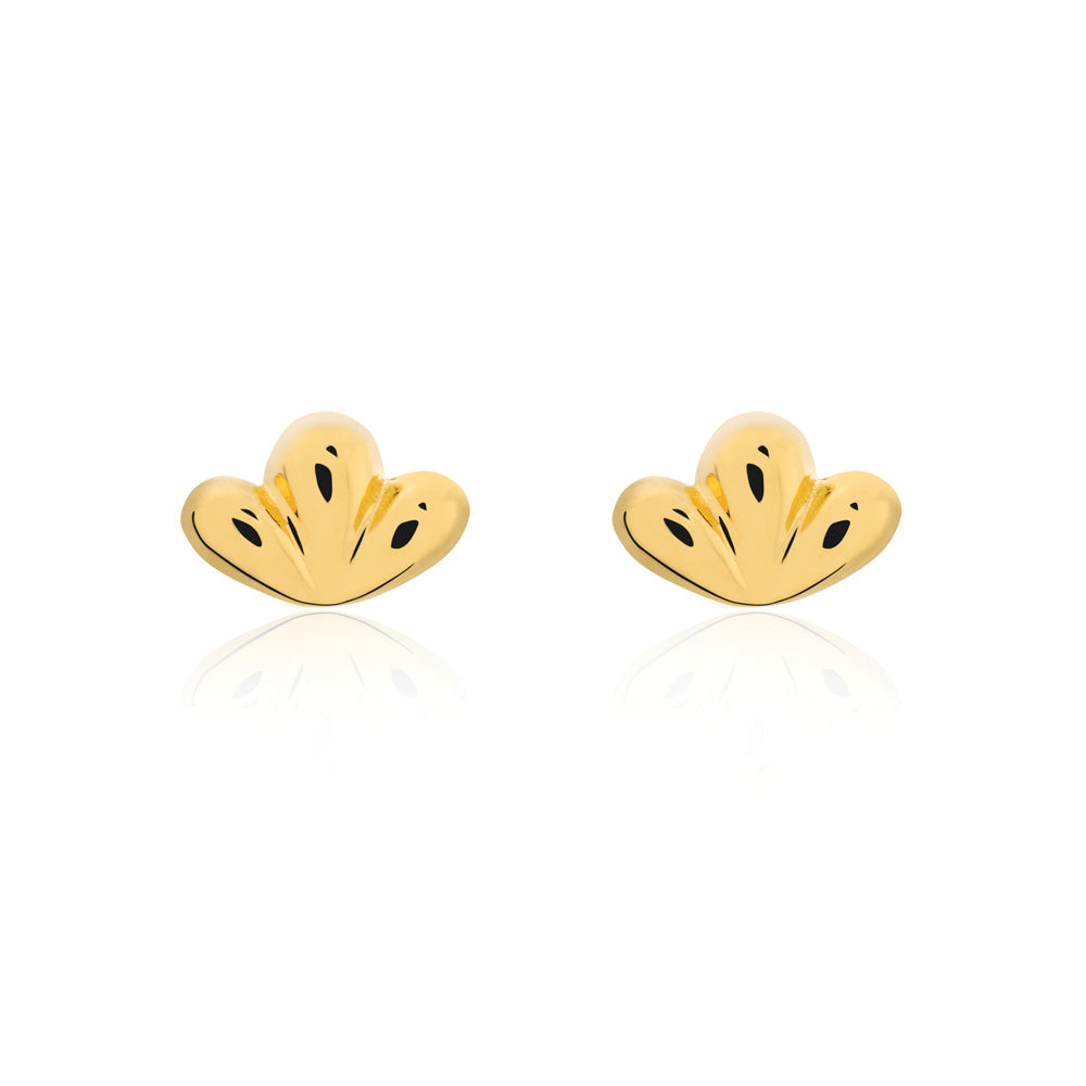 Bloom Stud Earrings - Yellow Gold Plated Sterling Silver