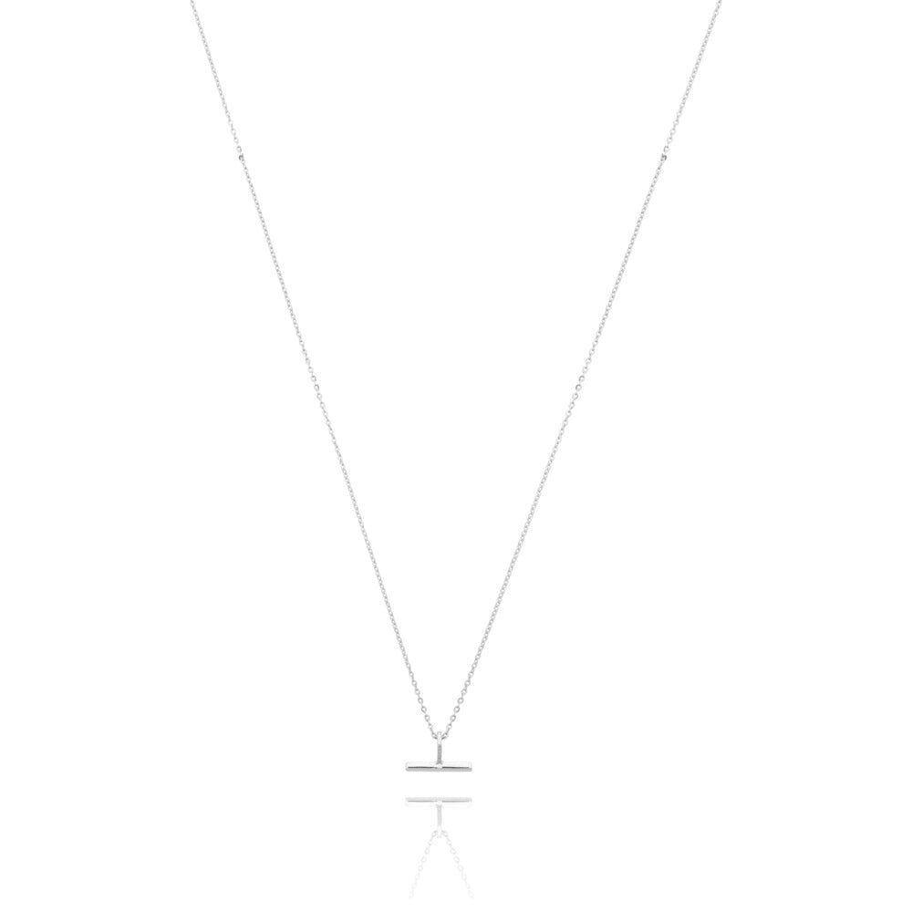 Mini T-Bar Necklace - Sterling Silver