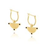 Power of Three Hoop Earrings - Yellow Gold Plated Sterling Silver