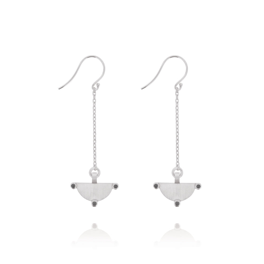 Power of Three Drop Earrings - Sterling Silver