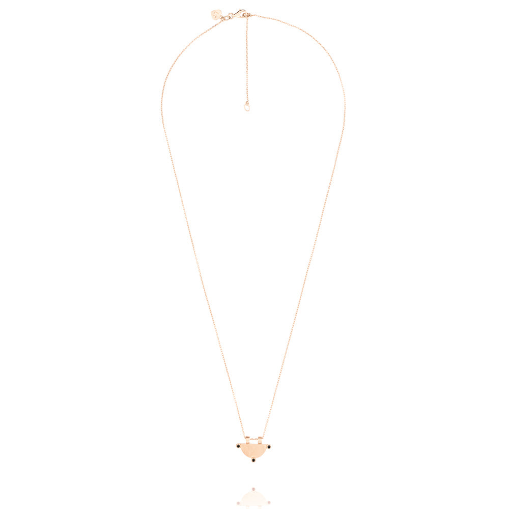 Power of Three Necklace - Rose Gold Plated Sterling Silver