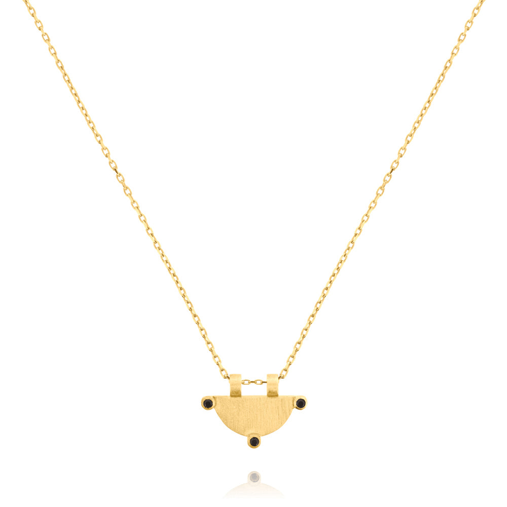 Power of Three Necklace - Yellow Gold Plated Sterling Silver