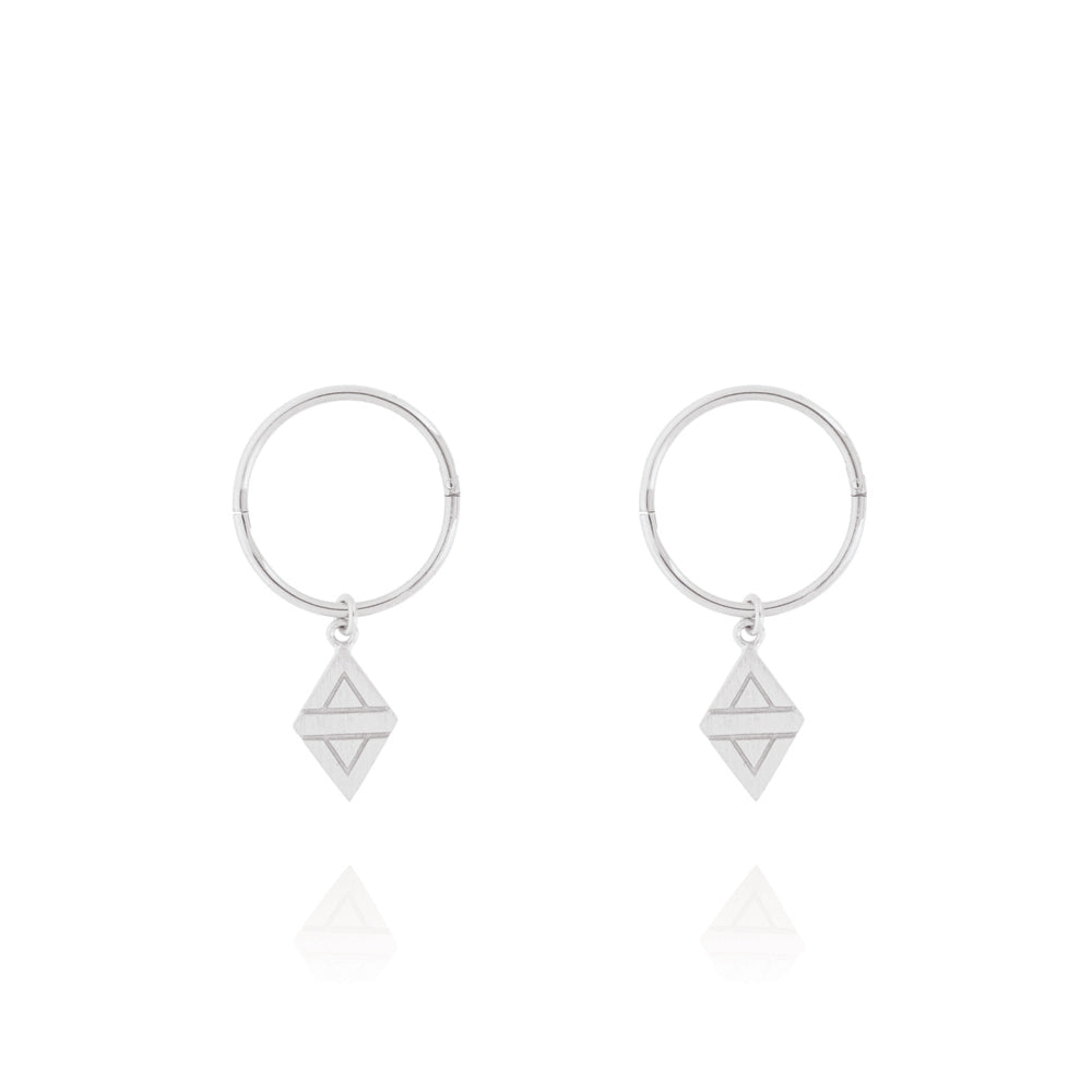 A New Dawn Sleeper Hoop Earrings - Sterling Silver
