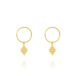 A New Dawn Sleeper Hoop Earrings - Yellow Gold Plated Sterling Silver