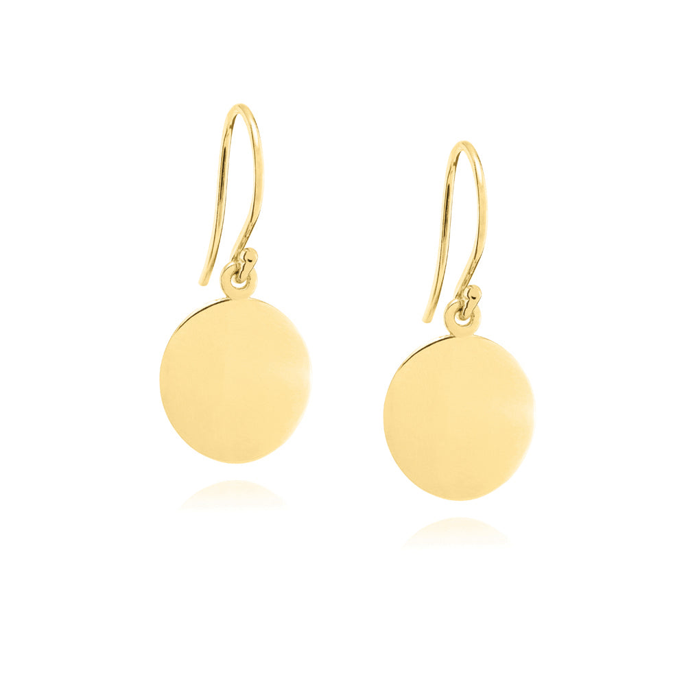 Orbit Earrings Yellow Gold Plated Sterling Silver