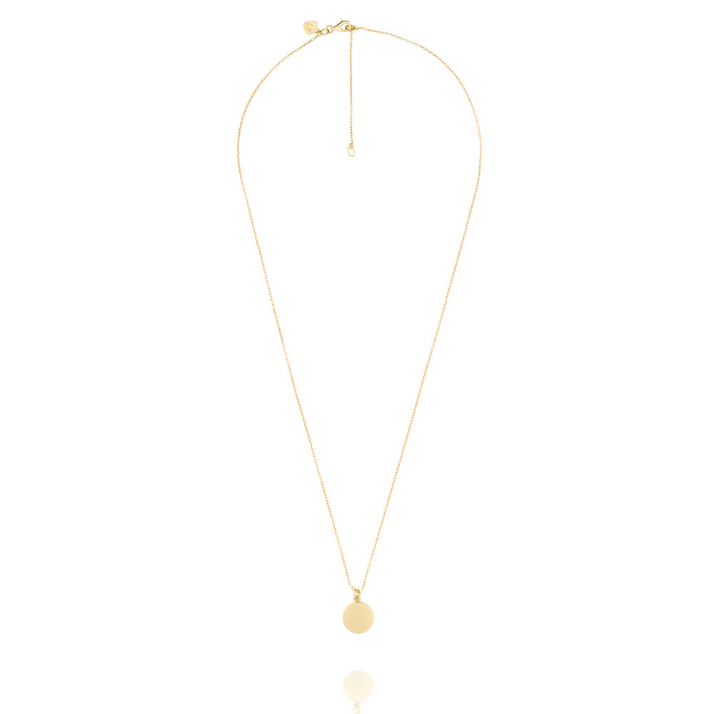 Orbit Necklace - Yellow Gold Plated Sterling Silver