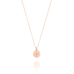 North Star Disc Necklace - Rose Gold Plated Sterling Silver