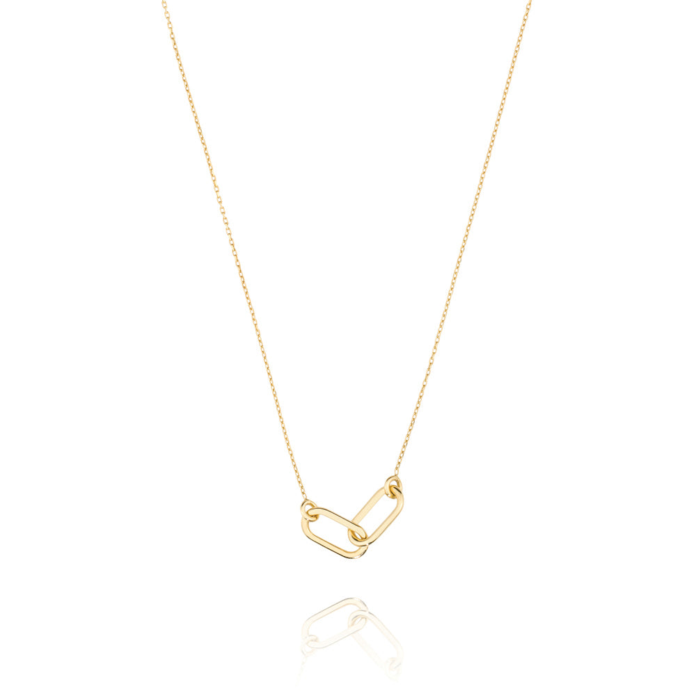 Linked Necklace - Yellow Gold Plated Sterling