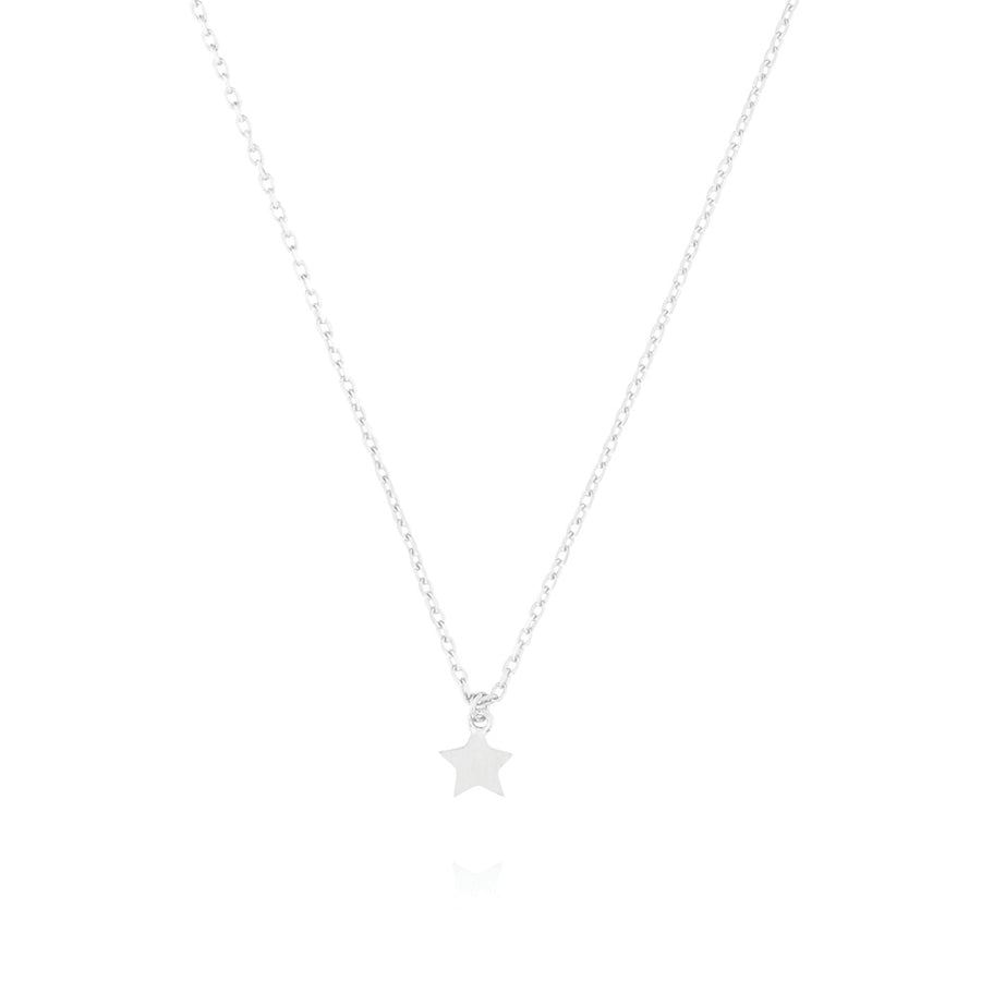 Tiny Star Choker Necklace - Sterling Silver