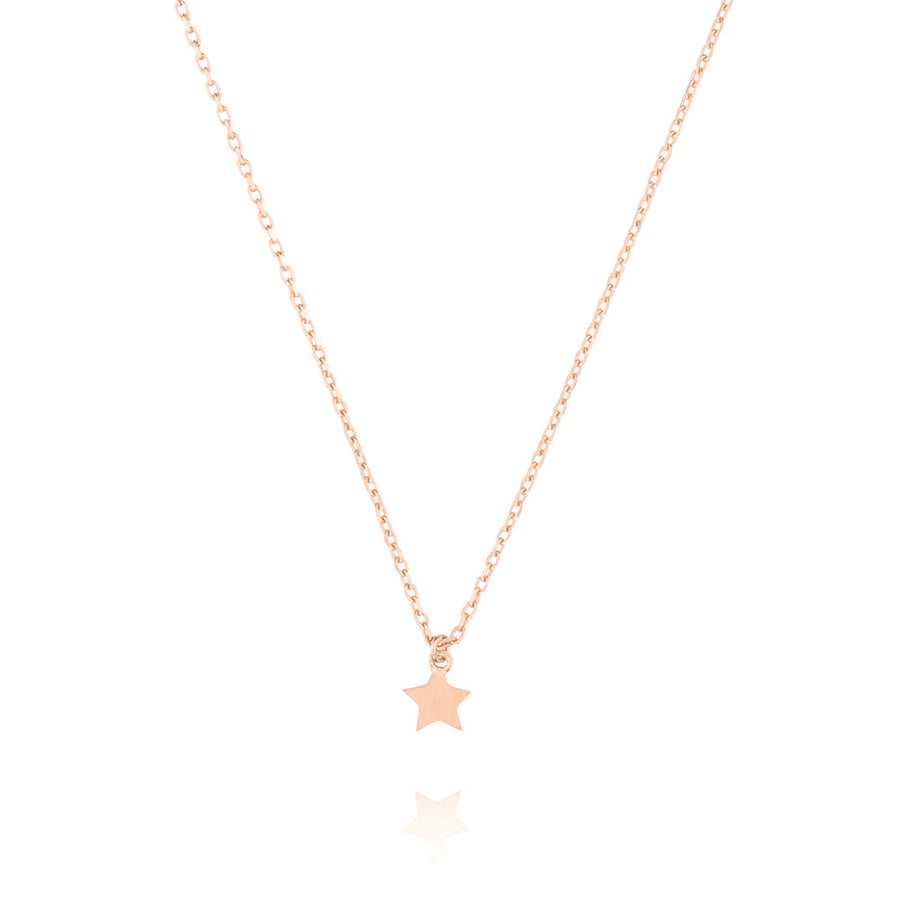 Tiny Star Choker Necklace - Rose Gold Plated Sterling Silver