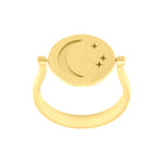 Amulets of Alchemy - New Beginnings Ring - Sterling Silver with Yellow Gold Vermeil