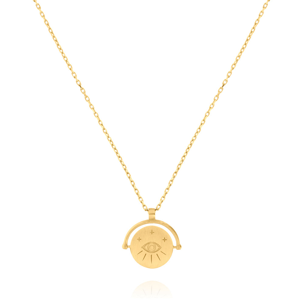Amulets of Alchemy - Protection Necklace - Yellow Gold Plated Silver