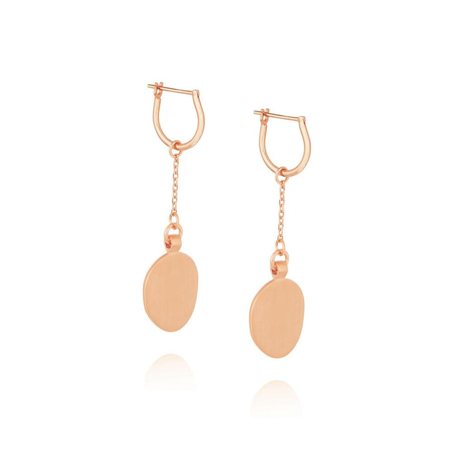 Hannah Hoop Chain Earrings - Rose Gold Plated Sterling Silver