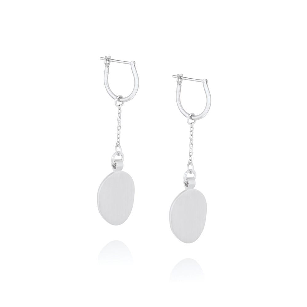 Hannah Hoop Chain Earrings - Sterling Silver