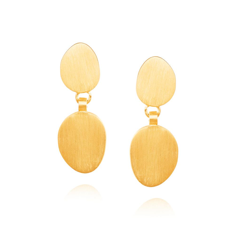 Double Hannah Earrings - Yellow Gold Plated Sterling Silver