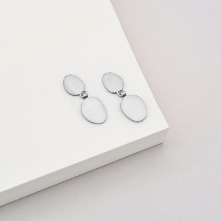 Double Hannah Earrings - Sterling Silver