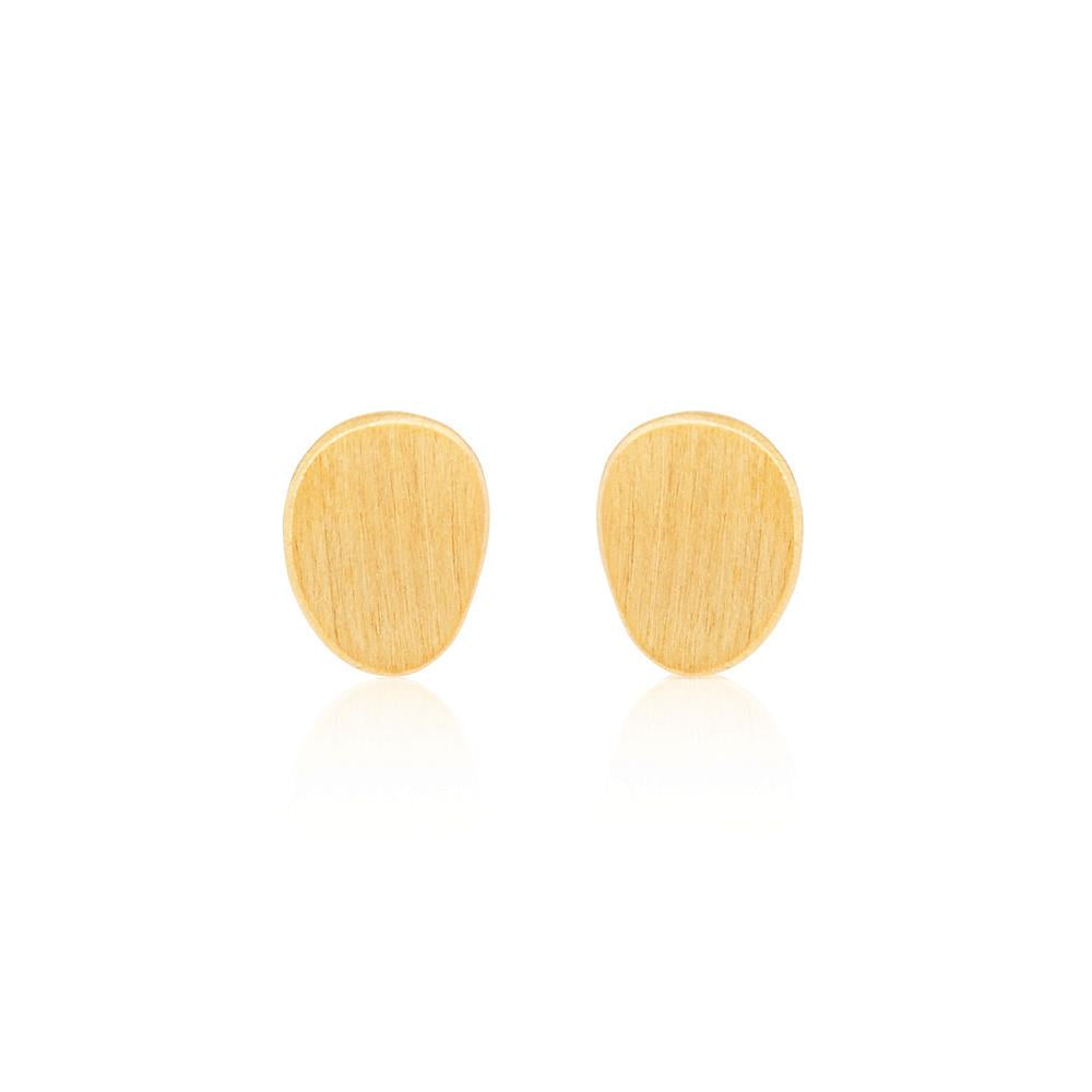 Hannah Stud Earrings - Yellow Gold Plated Sterling Silver