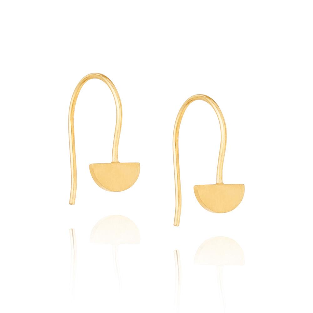 Yolly Hook Earrings - Yellow Gold Plated Sterling Silver