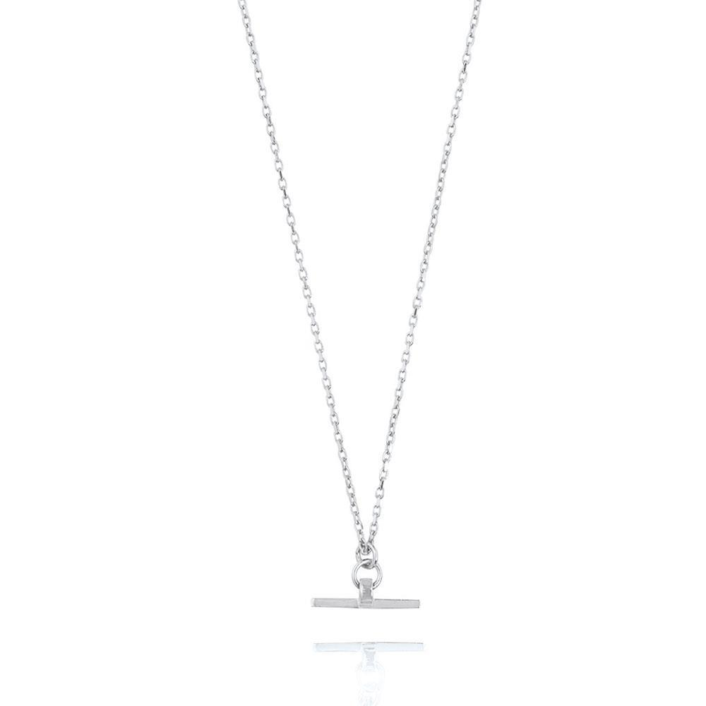 Valentina T-Bar Necklace - Sterling Silver