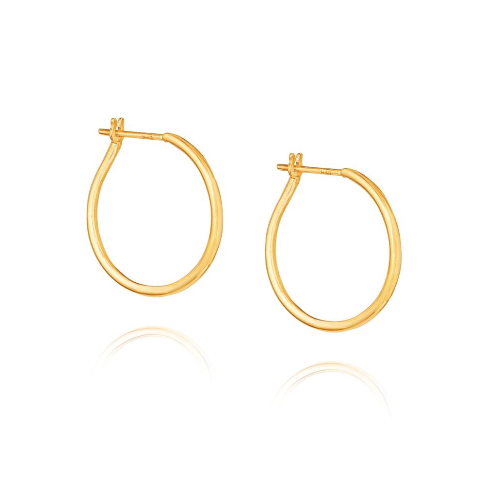 Willpower Hoop Earrings - Yellow Gold Plated Sterling Silver