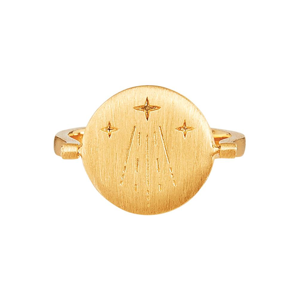 Amulets of Alchemy - Luck Ring - Yellow Gold Plated Sterling Silver