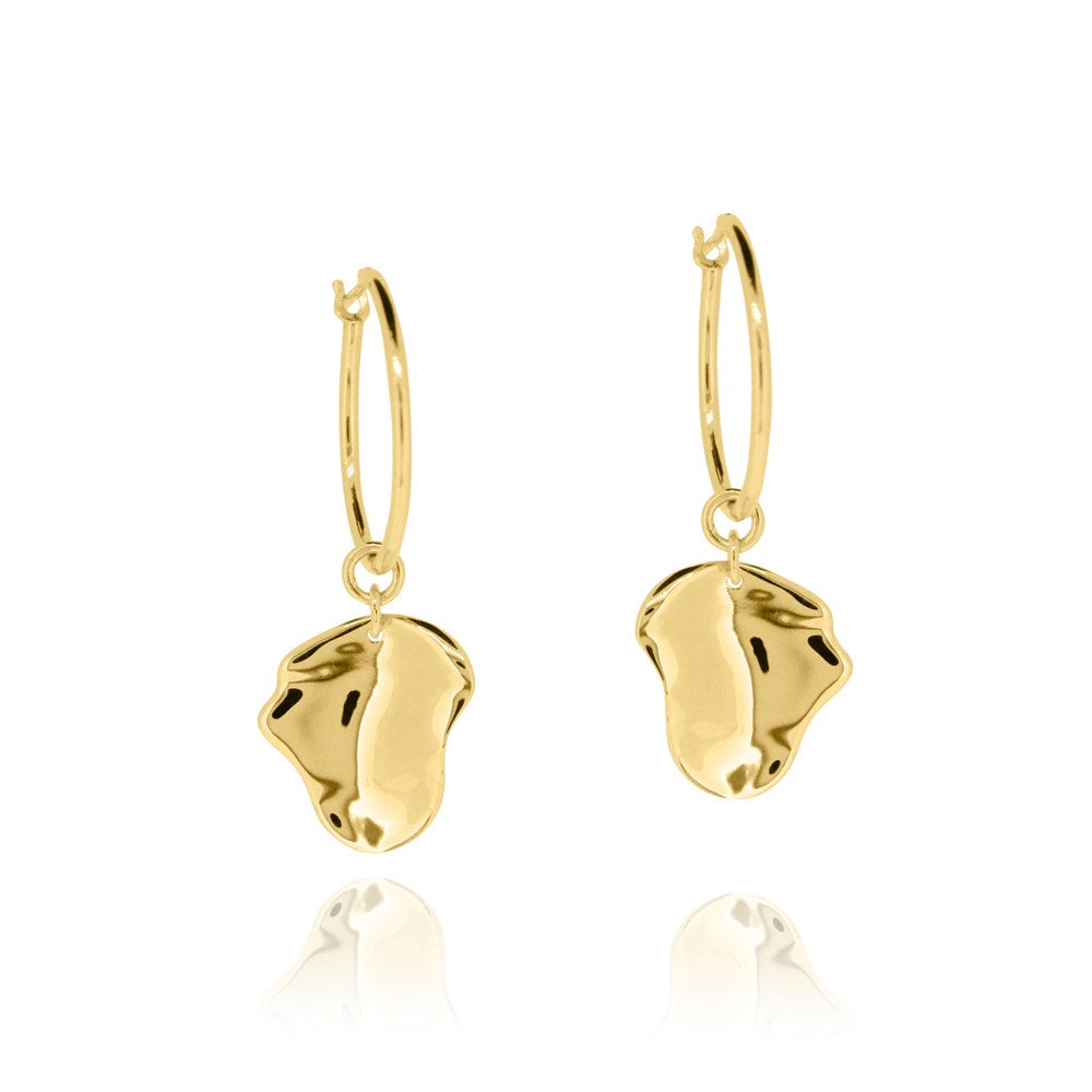 Morph Hoop Earrings - Yellow Gold Plated Sterling Silver