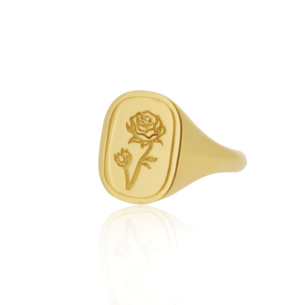 The Rose Ring - Sterling Silver with Yellow Gold Vermeil