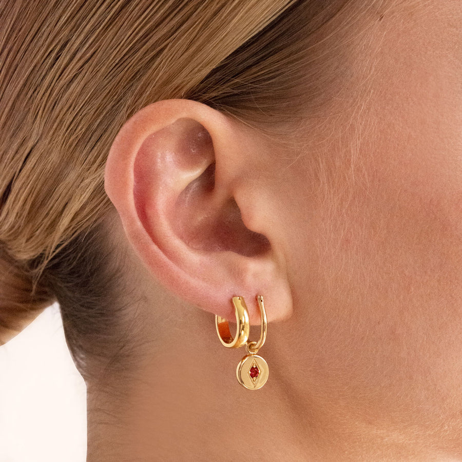 Jean Hoop Earrings