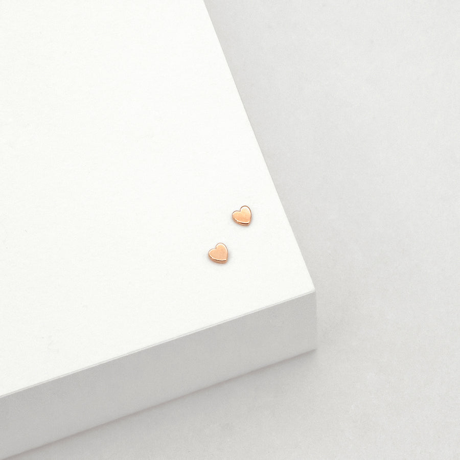 Micro Heart Stud Earrings