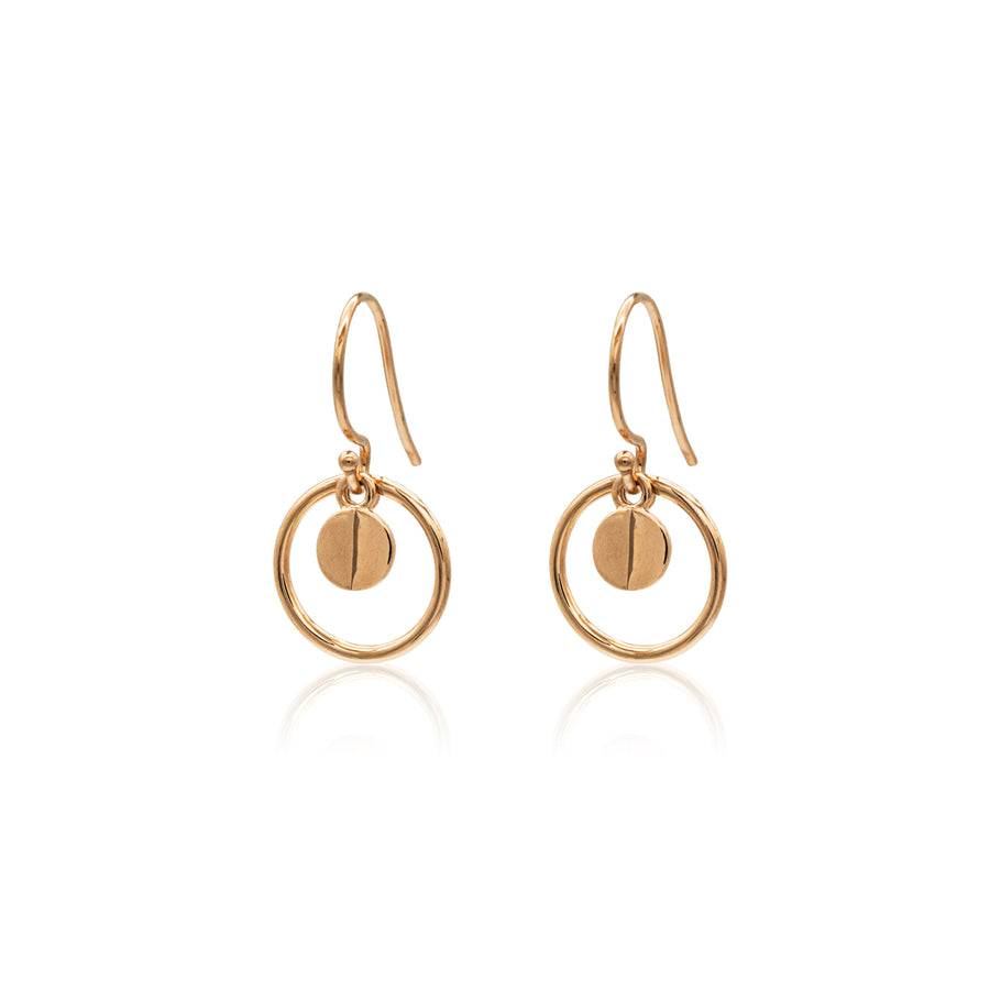 Ridge Halo Earrings