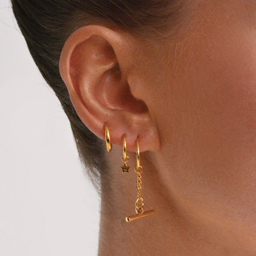Star Base Hoop Earrings
