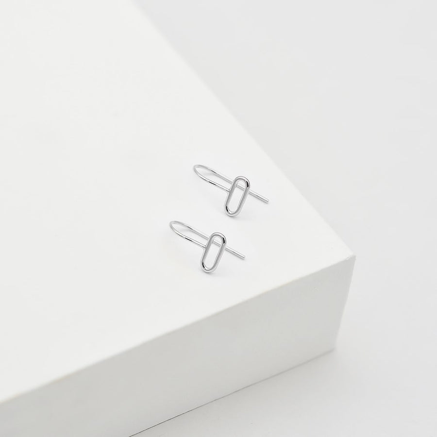 Ellipse Hook Earrings