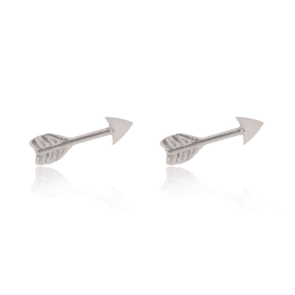 Arrow Stud Earrings - Sterling Silver