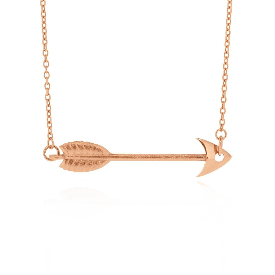 Arrow Pendant - Rose Gold Plated Sterling Silver