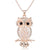 Owl Rhinestone Bling Necklace