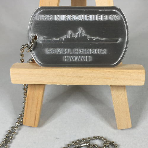 USS Missouri Dog Tag