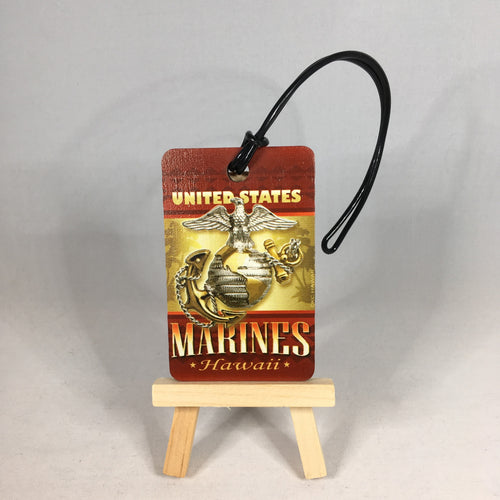U.S. Marie Corps Hawaii Retro Luggage Tag