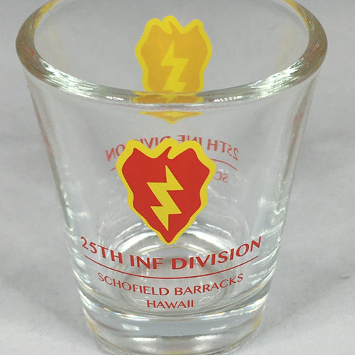 25th Infantry Division Shot Glass