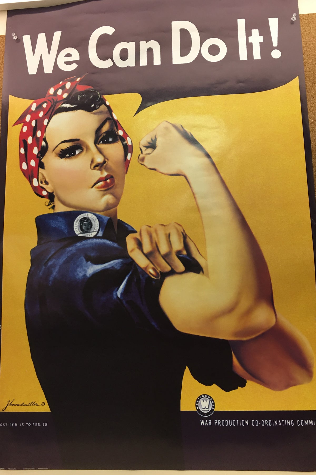 "Rosie the Riveter; ""We Can Do It!"" Poster"