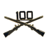 100th Battalion Crossed Rifle Pin