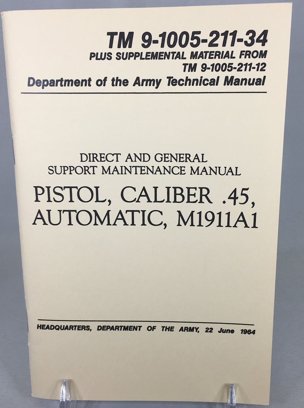 US Army Pistols - Department of the ArmyTechnical Manual