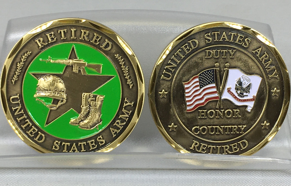 US Army Retired Challenge Coin