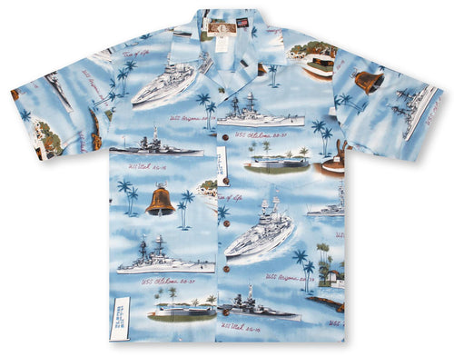 Aloha Shirt Pearl Harbor Blue