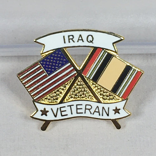 Iraqi Veteran Flag Pin