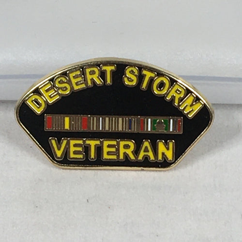 Desert Storm Veteran Patch Pin