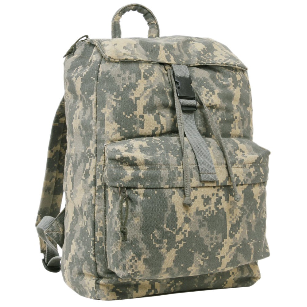 "A.C.U. Digital Camo Canvas Daypack, 17"" x 12"" x 10"""