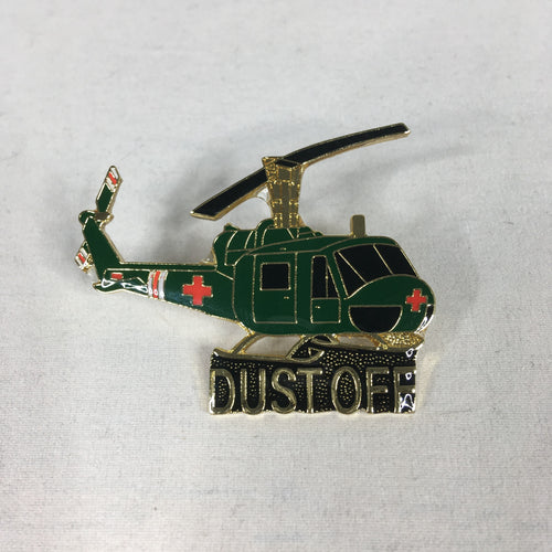 Dust Off Helicopter Pin