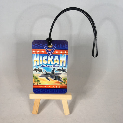 Hickam AFB Retro Luggage Tag